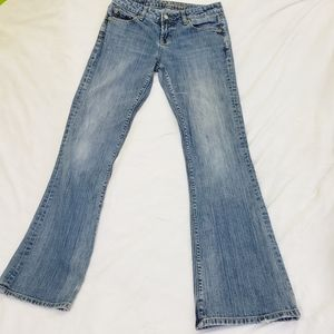 AEO Hipster Boot Cut Medium Wash Denim Jeans Size2